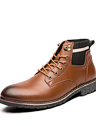 cheap -Men's Formal Shoes PU Spring & Summer / Fall & Winter Casual / British Boots Booties / Ankle Boots Black / Brown / Party & Evening