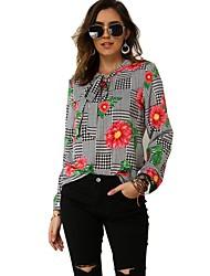 cheap -Women's Daily Shirt - Floral White
