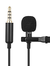 cheap -Mini Microphone 1.45m Mini Portable Microphone Condenser Clip-on Lapel Lavalier Mic Wired Mikrofo/Microfon for Phone for Laptop