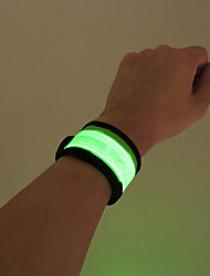 cheap -Reflective Wristband / Snap Band 1 Piece LED Nylon for Running / Cycling / Bike / Jogging Button Battery Powered