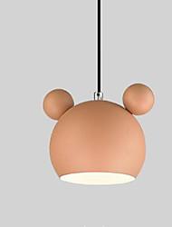 cheap -Macaron Color Chandelier Creative Restaurant Bar Bedroom Bedside Children's Room LED Cartoon Mickey Chandelier