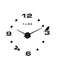 Недорогие -Новый сделай сам большой 3d номер зеркало стикер стены домашнего декора большие часы художественные часы