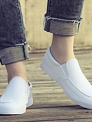 baratos -Homens Sapatos Confortáveis Couro Ecológico Inverno Mocassins e Slip-Ons Preto / Branco / Khaki