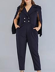 cheap -Women's Basic Blue Jumpsuit Onesie, Solid Colored L XL XXL