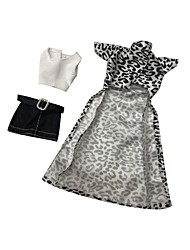 cheap -Doll Dress Casual Print Lace Tulle Lace Organza Handmade Toy for Girl's Birthday Gifts  / Kids