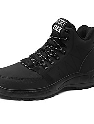 cheap -Men's Comfort Shoes PU Winter / Fall & Winter Sporty / Casual Sneakers Hiking Shoes / Walking Shoes Breathable Black
