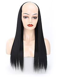 Недорогие -Омбре Прямой Искусственные волосы 60 см. Наращивание волос Клип во / на 1 шт. Без запаха Мягкость Жаропрочная Жен. Мужской Рождество Новогодние подарки Для вечеринок