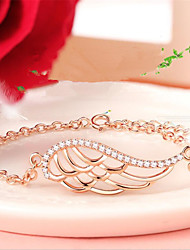 cheap -Women's Chain Bracelet Classic Angel Wings Fashion Alloy Bracelet Jewelry Gold For Gift Daily