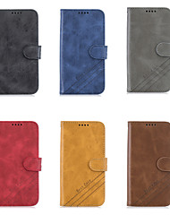 cheap -Case For OPPO Oppo F11 Pro Wallet / Card Holder / with Stand Full Body Cases Solid Colored PU Leather