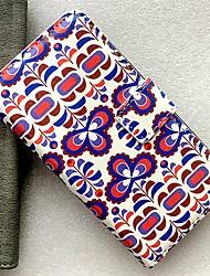 Недорогие -Кейс для Назначение Nokia Бумажник для карт / со стендом / Флип Чехол Геометрический рисунок / Цветы Кожа PU