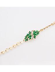 abordables -dames Strass Alliage Le style mignon Princesse Fleur / bracelet