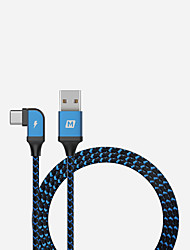 cheap -Type-C Cable 1.2m(4Ft) Quick Charge Aluminum / Nylon USB Cable Adapter For Huawei / Nokia / Lenovo