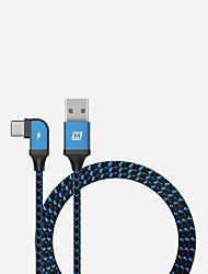 Недорогие -Type-C Кабель 1.2m (4FT) Быстрая зарядка Алюминий / Нейлон Адаптер USB-кабеля Назначение Huawei / Nokia / Lenovo