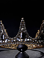 cheap -Tiaras Wreaths Crown Masquerade Retro Vintage Gothic Alloy For Black Swan Cosplay Halloween Carnival Women's Costume Jewelry Fashion Jewelry