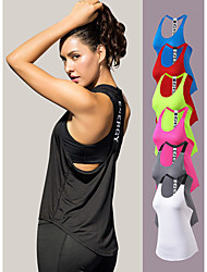 cheap -YUERLIAN Women's Running Tank Top T Back Black White Fuchsia Green Red Elastane Yoga Fitness Gym Workout Vest / Gilet Sleeveless Sport Activewear Lightweight Breathable Quick Dry Comfortable Power