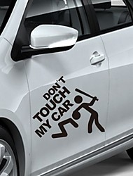 cheap -2pcs Funny Dont Touch My Car Pattern Reflective Car Sticker Waterproof PVC Car Sticker Vinyl Decal