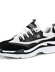 cheap -Men's Comfort Shoes Mesh Spring & Summer / Fall & Winter Sporty / Casual Athletic Shoes Running Shoes / Fitness & Cross Training Shoes Non-slipping Color Block Black / Black and White / White
