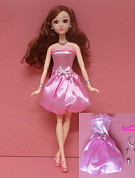 cheap -Doll Dress Party / Evening For Barbiedoll Print Organza Sequin Dress For Girl's Doll Toy