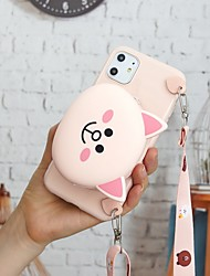 cheap -Case For Apple iPhone 11 / iPhone XR / iPhone 11 Pro Wallet / Pattern Back Cover 3D Cartoon TPU