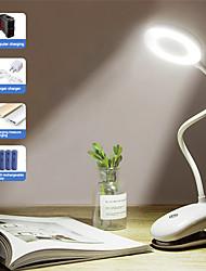 abordables -portable led lampe de bureau tactile interrupteur marche / arrêt protection des yeux clip table lumière 3 modes dimmable usb rechargeable lampes de bureau