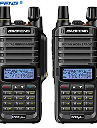 cheap -2pcs baofeng UV-9R plus 10KM 4800 mAh 10 W waterproof walkie talkie High power  two way radio VHF UHF portable radio walkie talkie uv9R plus
