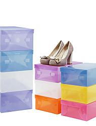 cheap -Plastic Rectangle New Design Home Organization, 5pcs Storage Boxes / Shoes Racks