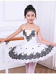 cheap -Kids' Dancewear Tutus & Skirts Girls' Performance / Theme Party Polyester / Tulle Lace / Pleats / Crystals / Rhinestones Sleeveless Dress