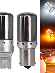 cheap -2PCS CanBus S25 1156 BA15S P21w BAU15S PY21w T20 7440 W21W LED Bulbs 3014 144smd Error Free Canbus Turn Signal Lights Brake lamp