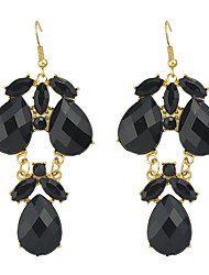 cheap -Women's Earrings Pear Cut Drop Artistic Tropical Rock Cute Boho Imitation Diamond Earrings Jewelry Black / White / Orange For Party Engagement Stage Prom Club 1 Pair