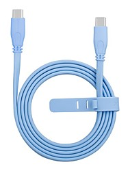 cheap -Type-C Cable 1.0m(3Ft) Flat / Quick Charge Aluminum / TPE USB Cable Adapter For Huawei / Nokia / Lenovo