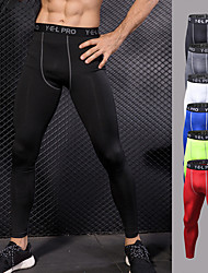 cheap -YUERLIAN Men's High Waist Running Tights Compression Pants Black White Green Red Blue Running Fitness Gym Workout Leggings Pants Sport Activewear Thermal / Warm Breathable Moisture Wicking Tummy