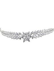 cheap -Cubic Zirconia Crown Tiaras with Rhinestone / Glitter / Metal 1pc Wedding / Birthday Headpiece