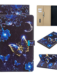 cheap -Case For Amazon Wallet / Card Holder / with Stand Full Body Cases Butterfly PU Leather for kindle 1.2.3.4 kindle Fire  7 2015 2017  2019 HD8 2015 2016 2017  HD10 2015 2017