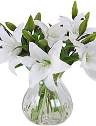 abordables -simulation tactile fleur de lys appropriée pour la décoration de la maison bureau de fête de mariage