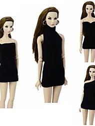 Недорогие -Платье куклы Кукольный наряд Для Barbie Мода Полиэстер Юбки / Кофты / Ботинки Для Девичий игрушки куклы / Дети