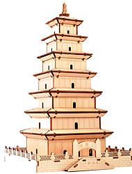 Недорогие -3D пазлы Деревянные пазлы Китайская архитектура моделирование Ручная работа деревянный 107 pcs Детские Взрослые Все Игрушки Подарок