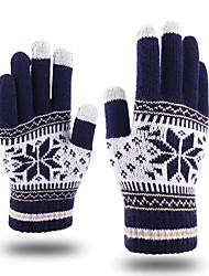 Недорогие -Перчатки для бега / Зимние Полный палец Муж. / Жен. Сохраняет тепло / Сенсорный экран / Легкость Бег / Пешеходный туризм / Авто / вело Хлопок / полиэфир / Зима / Противозаносный