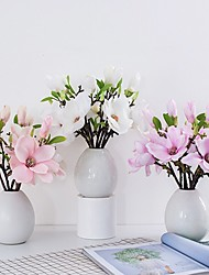 cheap -Artificial Flowers Magnolia Flower Bud Bridal Wedding Bouquet Real Touch Flower Bouquets Home Party Event Christmas New Year Wedding Decoration, Vase Not Included