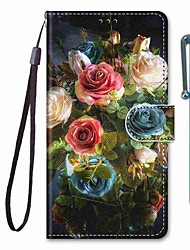 cheap -Phone Case For Apple Full Body Case Leather Wallet Card iPhone 12 Pro Max 11 SE 2020 X XR XS Max 8 7 6 iPhone 11 Pro Max SE 2020 X XR XS Max 8 7 6 Wallet Card Holder with Stand Flower / Floral PU
