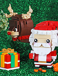 cheap -Building Blocks 100-200 pcs Snowman Santa Claus Christmas Santa Suits compatible ABS+PC Legoing Simulation All Toy Gift / Kid's