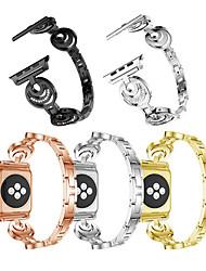 Недорогие -ремешок для часов для серии Apple Watch 5/4/3/2/1 дизайн ювелирных изделий Apple браслет из нержавеющей стали ремешок на запястье луна и звезды набор сплава шнека