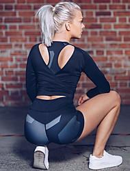 cheap -Women's High Waist Yoga Shorts Fashion Gray Running Fitness Gym Workout Shorts Sport Activewear Quick Dry Butt Lift Tummy Control Power Flex High Elasticity Skinny