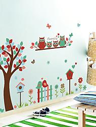 Недорогие -sk9162 сова цветок дерево птица милая детская комната детский сад гостиная украшения наклейки
