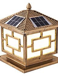 Недорогие -1шт 6 W Свет газонные / Светодиодный уличный фонарь / Солнечный свет стены Водонепроницаемый / Дистанционно управляемый / Работает от солнечной энергии Теплый белый + белый 3.7 V