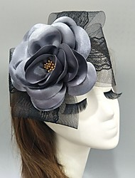 cheap -Net Fascinators / Hats / Headwear with Bowknot / Lace / Floral 1 Piece Wedding / Special Occasion Headpiece