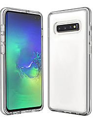 cheap -Case For Samsung Galaxy Galaxy S10 / Galaxy S10 Plus / Galaxy S10 E Shockproof / Transparent Back Cover Transparent TPU