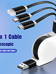 cheap -Multi Function 3 in 1 Universal Fast Charging Data Line Telescopic Usb Extension Cable