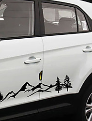 cheap -2pcs 100cm Universal For Tree Decal Mountain Scene Large Northwest car Sticker Vinyl Truck RV Toy Hauler Vehicle Car Accessories