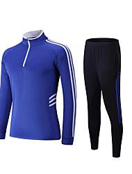 cheap -Men's Zip Front Elastane Running Pants Workout Set Sweatshirt 2pcs Winter Half Zip Mandarin Collar Running Exercise & Fitness Quick Dry Breathability Stretchy Sportswear Tracksuit Clothing Suit Long
