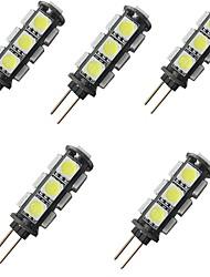 cheap -5pcs 2 W LED Bi-pin Lights 150 lm G4 13 LED Beads SMD 5050 Warm White White 12 V